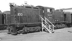 B&M I-R 102T #1100 on display at N. Station on 6/16/1935. (8x14) (Houghton's RailImages) Tags: bm bostonmaine ingersollrand ir 102t diesel locomotive bw trains locomotives boston massachusetts usa