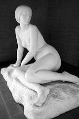 Maidenly (dayman1776) Tags: brookgreen gardens garden sculpture escultura statue black white bw woman female nude art museum marble sculptor sony a6000 sigma prime lens gorgeous
