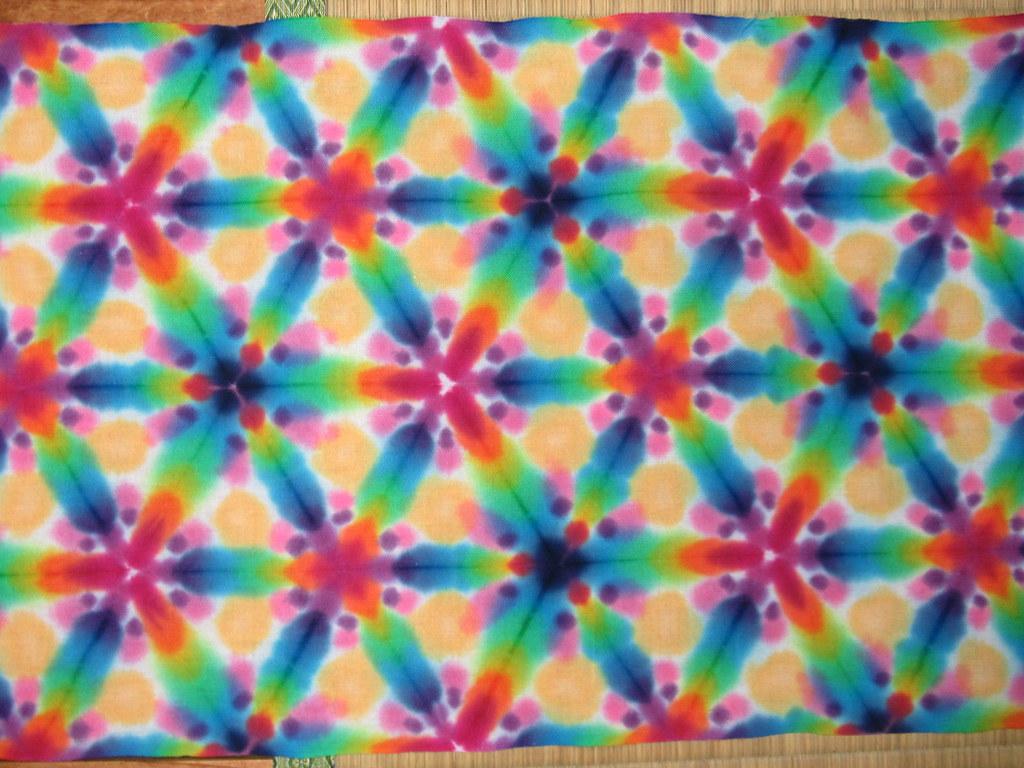 d4336233a26d7 psychedelic itajime shibori sarashi tenugui (asiadyer) Tags: sarashi  textile tenugui itajime shiboripsychedelic psychedelic