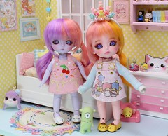 The Monster Hunters and Grum #3 (Arthoniel) Tags: rhyme riddle monsterhunter lati latidoll latiyellow sbelle happy pink purple diorama nereapozo keera dollhouse roombox miniature tiny collection toy doll bjd bud balljointeddoll figure rement aimerai monster pastel