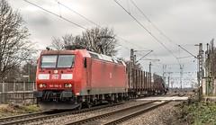 01_2019_01_16_Gelsenkirchen_Bismarck_6185_190_DB_mit_Schwerlasttransport_Uaais ➡️ Herne_Abzw_Crange (ruhrpott.sprinter) Tags: ruhrpott sprinter deutschland germany allmangne nrw ruhrgebiet gelsenkirchen lokomotive locomotives eisenbahn railroad rail zug train reisezug passenger güter cargo freight fret bismarck bottropsüd ctd captrain db hctor hhpi 0632 1266 1232 1261 6152 6185 6187 6241 class66 vtgch rb42 hochspannungsmast kraftwerk herne dorsten dortmund logo natur graffiti outdoor