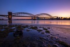 Gestern Abend am Rhein (Jörgenshaus) Tags: köln südbrücke nrw rheinland rhein blauestunde hochwasser
