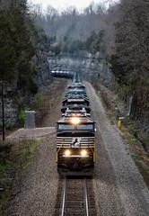 Effortless Climb (Wheelnrail) Tags: ns norfolk southern emd sd60e train trains 7001 ethanol kings mountain ky cnotp rural railway railroad rails grade
