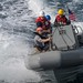 Sailors conduct small boat operations in the Arabian Sea, Feb. 4, 2019.