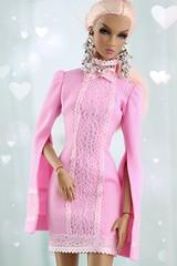Happy Valentine's day <3 (Regina&Galiana) Tags: fashionroyalty fashion fashiondoll nuface integritytoys doll barbie dress pink happyvalentinesday