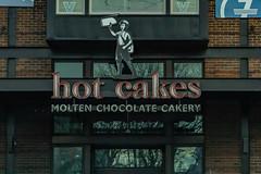 Hot Cakes (davidseibold) Tags: america brick drivebyphotography eoliveway hotcakes jfflickr kingcounty photosbydavid postedonfb postedonflickr seattle sign text unitedstates usa vehicle washington