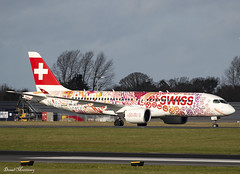 Swiss (Fete des Vignerons 2019 Livery) CS300 (A220) HB-JCA (birrlad) Tags: dublin dub international airport ireland aircraft aviation airplane airplanes airline airliner airlines airways arrival arriving approach finals landing landed runway taxi taxiway special colour scheme decals titles livery fetedesvignerons2019 swiss airbus a220 a220300 bombardier cseries cs300 hbjca