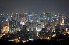 Night View from Namsan Tower Korea. (-macoy dela noche-) Tags: seoul namsan namsantower nseoultower korea2019 korea