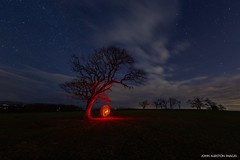 Shelter From The Storm [Explored 5/2/19 Thank You!] (john&mairi) Tags: lonetree stirlingshire orb lightpainting starry stars nightsky clouds killearn bobdylan