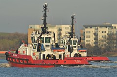 SD Shark + SD Seal (5) @ Gallions Reach 22-02-19 (AJBC_1) Tags: riverthames gallionsreach london ©ajc ship vessel boat england unitedkingdom uk northwoolwich eastlondon newham londonboroughofnewham dlrblog nikond3200 ajbc1 tug tugboat kotug kotugeuropeanharbourtowage sdseal sdshark