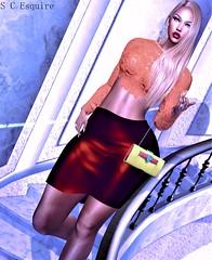BLOG #229 (Suzie Coba Esquire) Tags: shanghai earring clutch moncada paris bag dreamcatcher skirt osmia top lace fashion hair doux blake style blog virtual secondlife model mesh bento new release