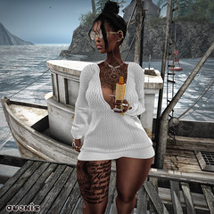 --- Nice Day For Sailing --- (Vexed By Avexis ♥) Tags: firestorm secondlife secondlife:region=divinecorruption secondlife:parcel=dperebosharbor secondlife:x=211 secondlife:y=25 secondlife:z=23 lsr dress blog avexis nature boats slinkhourglass swallow atelierpepe genusproject codex hoodlem empire alaskametro emarie re mirror chicchica glasses food earrings tattoos