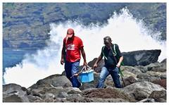 It's behind you!! (john.methven) Tags: anglers wave storm tenerife spain sea shore