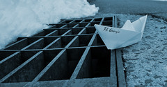 We all float (066/365) (robjvale) Tags: 365the2019edition 3652019 day66365 07mar19 project365 werehere wah it boat stormdrain hereios