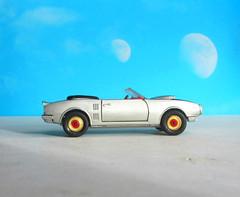 Corgi Toys No. 343 Pontiac Firebird 1969 With Red Spot Wheels : Diorama Futuristic Double Moon - 6 Of 13 (Kelvin64) Tags: corgi toys no 343 pontiac firebird 1969 with red spot wheels diorama futuristic double moon