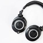 Black Studio Headphones isolated on white background thumbnail