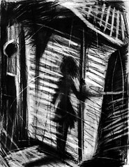 Fragments of a Shattered Memory: Part 5 (Skyler Brown Art) Tags: angst art artwork bw blackwhite blackandwhite charcoal creepy dark darkness depressing drawing germanexpressionism girl gothic greyscale intense longing love macabre nature ominous paper people sad scary shadow shadows valencia california usa