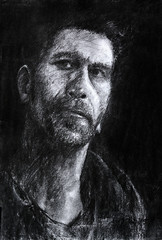 Charcoal Drawing (297mm x 420mm) (Gillian, Lu) Tags: charcoal drawing art artist artwork portrait man sketch instantart
