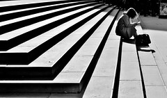Waiting (jaykay72.) Tags: london uk street candid streetphotography stpaulscathedral stphotographia blackandwhite bw