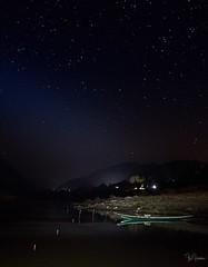 Mekong River @ night, finally a dark place! (Tom Helleboe) Tags: