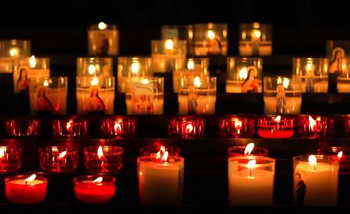 Perpignan saint jean baptiste cathedral candle
