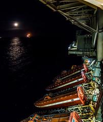 Moon Light and Life Boats (Craig Hannah) Tags: offshore lifeboat platform rig oilrig oil gas northsea scotland uk moon night nightsky craighannah march 2019 sea industry industrial