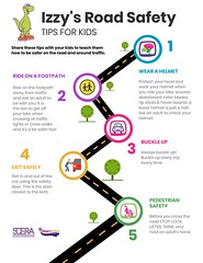 Izzys Road Safety Tips for Kids infographic (Aiden Dallas) Tags: road safety tips for kid infographic