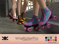 WilaRollerPro :: Skates for Woman :: 10 Colors ({kokoia}) Tags: skate kokoia shoes ankle boots roller wheels maitreya belleza slink mesh secondlife 3d
