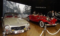 1959 Mercedes-Benz 190SL and 1934 Mercedes-Benz 500K (FromKG) Tags: mercedesbenz 190sl 500k red car grey belgrade international motor show 2019 serbia