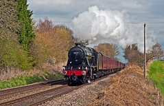 salopian express (midcheshireman) Tags: steam train locomotive cheshire 8f 48151 mainline railway salopianexpress