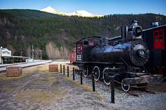 JRS_0869 (spruce_dweller) Tags: train engine skagway alaska mountain sunset