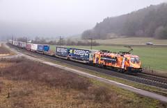 "[DE] Harrbach, 06.03.2019 - 182 572 ""TXL"" mit KLV (Frederik L.) Tags: db bahn zug cargo eisenbahn lok lokomotive siemens taurus privatbahn güterzug fracht bahnhof gemünden maintal"
