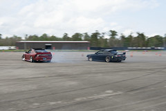 Tandem Run (Find The Apex) Tags: nolamotorsportspark nodrft drifting drift cars automotive automotivephotography nikon d800 nikond800 tandemdrift tandem tandemdrifting tandembattle nissan 240sx nissan240sx s13 s14