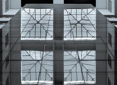 Rosebank Mall Atrium - For Mustafa Cavcar (Raphael de Kadt) Tags: abstract architecture johannesburg rosebank fujifilmxt2 interior geometry geometrical atrium ceiling roof africa