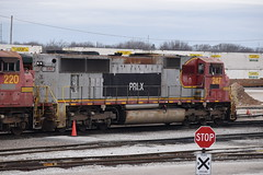 PRLX 247 (Christian Schnake) Tags: nikond3300pictures111217 prlx 247 warbonnet bnsf atsf springfield mo sd75m service tracks