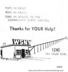 1943  wsny radio station (albany group archive) Tags: 1940s old albany ny vintage photos picture photo photograph history historic historical