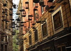 forgotten songs (gro57074@bigpond.net.au) Tags: guyclift f90 2470mmf28 tamron d850 nikon 2019 april colour color birdcages birdcage sculpture art architecture photography cbd sydney angelplace forgottensongs
