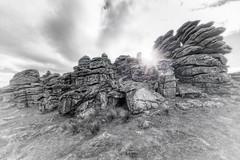 Hound Tor (pm69photography.uk) Tags: houndtor tors devon dartmoor bw blackandwhite ilovedevon ilovedartmoor ilce7rm3 southwest sony sonya7r3 voigtlander voigtlanderheliarf56 voigtlanderheliar10mmf56 voigtlander10mm 10mm granite rocks flare