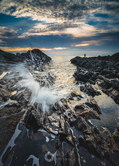 Moment of Impact (RTA Photography) Tags: meadfoot sea torquay torbay morning dawn sunrise clouds sky outdoors nature kase k8 cpl nikon d750 nikkor1835 light seascape rtaphotography devon motion coast