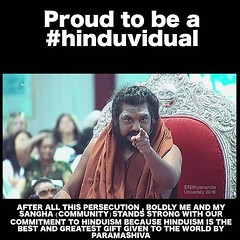 "I stand firm in my #hinduviduality therefore I cannot be violated. I am a strong #hinduvidual His Divine Holiness Bhagwan Sri Nithyananda Paramashivam is creating a movement for the revival of an enlightened civilisation. Please join the Hindu nation ""Kai (sri.sadyojata) Tags: enlightenment consciousness awakening integrity responsibility enriching authenticity transformation yoga meditation"