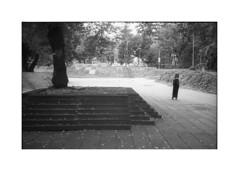 *** (Gediminas Bernotas) Tags: voigtlander bessar leica summaron3535 tree girl park reformatųparkas reformatųskevras vilnius fomapan200 kodakhc110 hdilution filmphotography blackwhite streetphotography composition