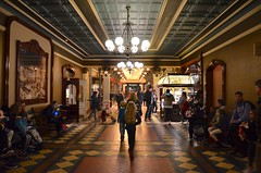 Sue & The Kids In The Hallway Behind Main Street, U.S.A. (Joe Shlabotnik) Tags: disneyland disneylandparis violet everett paris france april2018 eurodisney sue disney 2018 afsdxvrzoomnikkor18105mmf3556ged