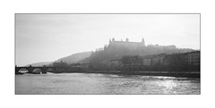 Certain Fortresses remain dangerous (Thomas Listl) Tags: thomaslistl blackandwhite biancoenegro noiretblanc monochrome würzburg fortress river main rivermain bridge altemainbrücke marienfestungwürzburg waterscape cityscape sky light bright urban city landscape ngc 35mm