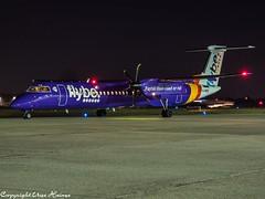 flybe G-PRPE HAJ at Night (U. Heinze) Tags: aircraft airlines airways airplane planespotting plane olympus 12100mm hannoverlangenhagenairporthaj haj eddv nightshot flugzeug