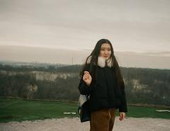 Tracie (Lentejas Puag) Tags: 35mm film filmisnotdead krakus mound hill krakow cracow poland mountain landscape amazing nikon nikonf70 portrait girl chinese