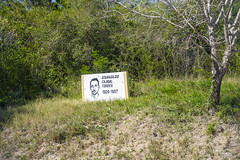 Signs honouring national heroes dot the road to Gibara. (Gerald Lau) Tags: holguin cuba 2019 revolution gibara martyr hero atanagildocajigaltorres