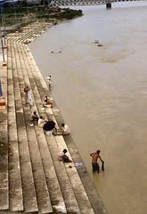 Mahananda river (Paolo Levi) Tags: river mahananda ghat siliguri westbengal india canon ftb fd 50mm ilfochrome