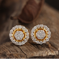Natural 0.71 ct. Diamond Pave Stud Earrings Solid 14K Yellow Gold Handmade Jewelry (couturechics.facebook1) Tags: natural 071 ct diamond pave stud earrings solid 14k yellow gold handmade jewelry