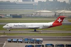 Helvetic Airways HB-JVG Fokker F100 cn/11478 @ EHAM / AMS 15-10-2016 (Nabil Molinari Photography) Tags: helvetic airways hbjvg fokker f100 cn11478 eham ams 15102016