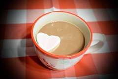 cup of heart (ladybugdiscovery) Tags: heart cup coffee brew marshmallow